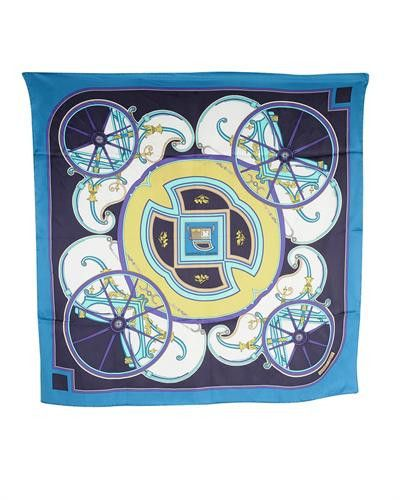 Hermes LU Washington's Carriage Silk Scarf- Made in France, 8/10 Condition