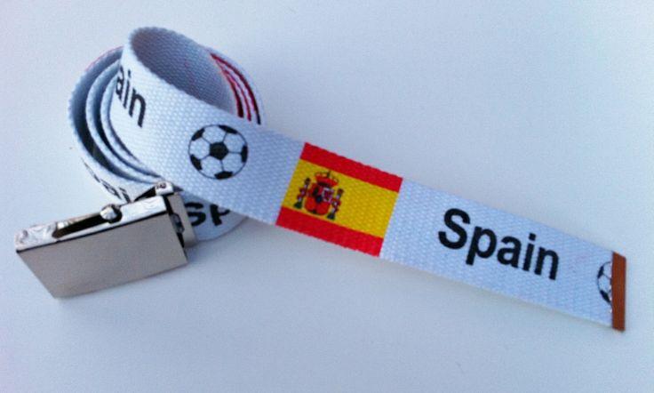 SPAIN SPANISH WORLDCUP SOCCER CHAMPS FLAG FASHION BELT BUCKLE