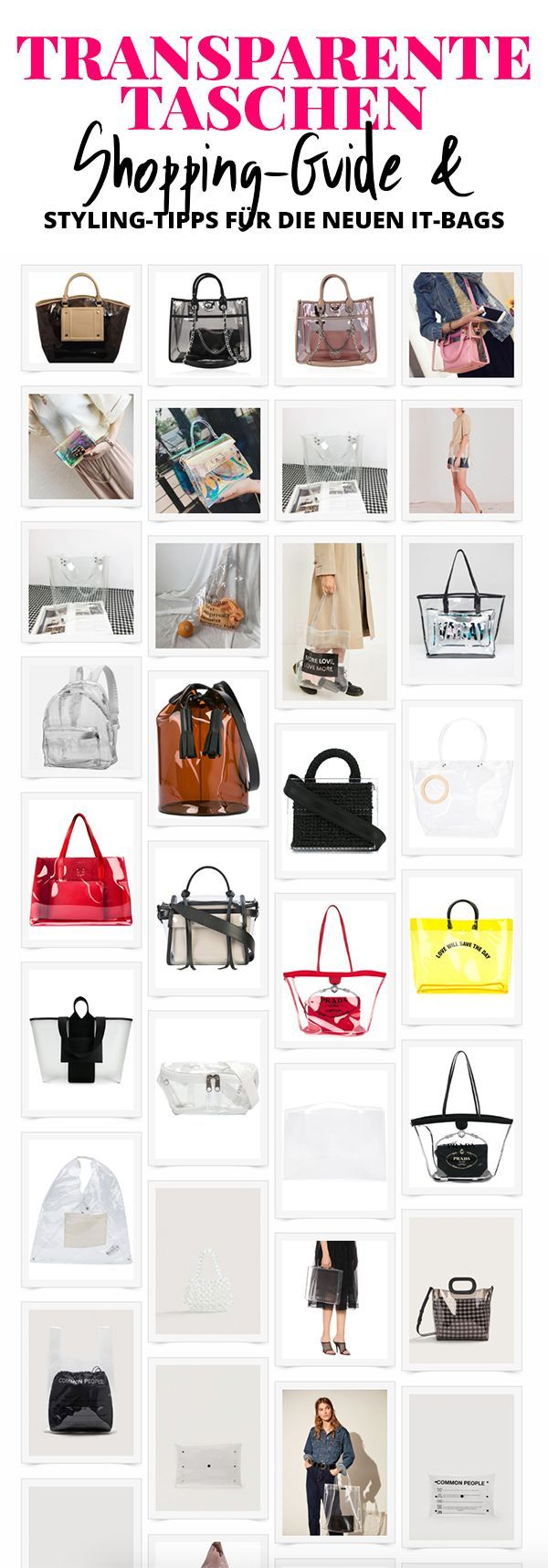 Transparente Tasche: So trage ich die neue It-Bag im Alltag! + Styling-Tipps! – Nora
