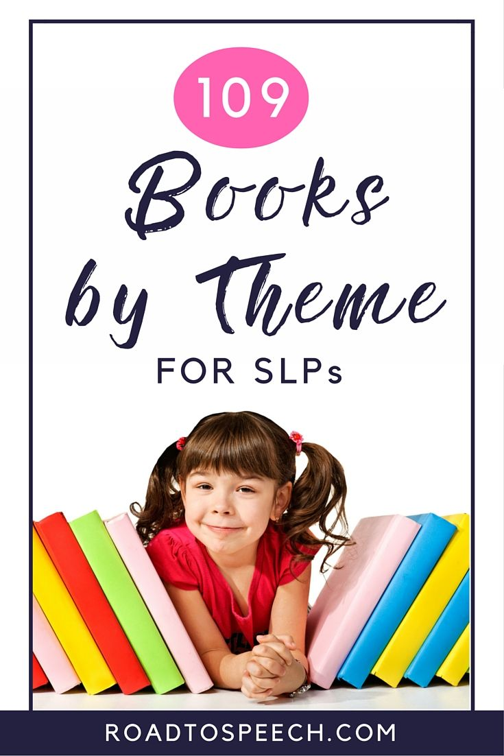 Out of ideas for your speech therapy sessions? Check out this list of 109 books (sorted by theme) for some inspiration!