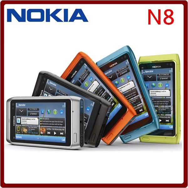"""Original N8 Nokia Mobile Phone 3.5"""" Capacitive Touch screen Camera 12MP 3G Unlocked N8 Cellphone Free Shipping one year warranty US $58.46-64.38 /piece To Buy Or See Another Product Click On This Link  http://goo.gl/EuGwiH"""