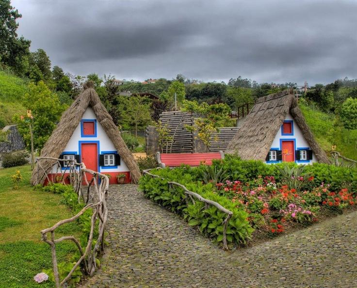 Casas típicas da Ilha da Madeira Portugal Portugal