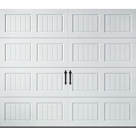 Pella Carriage House Series 9-ft x 7-ft Insulated White Garage Door