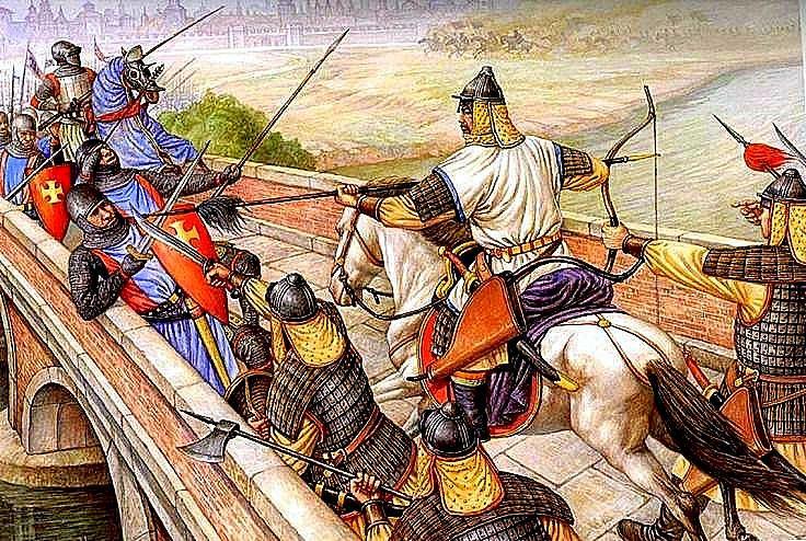 Hungary- April 11, 1241 AC, Batle of Mudi Mongol invasion of the Sajo river