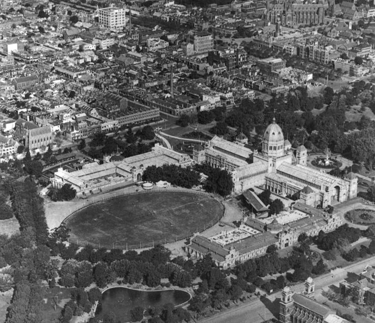 Royal Exhibition Building with many of the temporary halls removed.