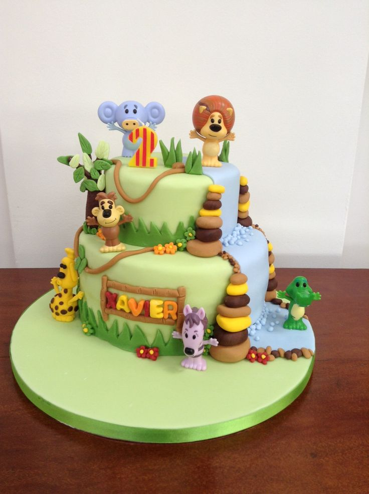 Raa Raa noisy lion 2nd birthday cake. Made by me, Lindsay Mangan @ houseofrocco for my son Xavier's birthday