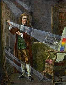 Newton - Experimento da decomposição da luz