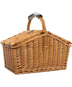 Navigate Country 4 Person Wicker Picnic Basket.