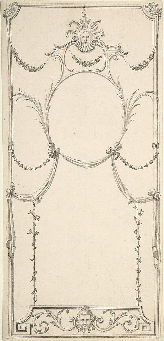 Design for Wall Panel Anonymous, British, 18th century