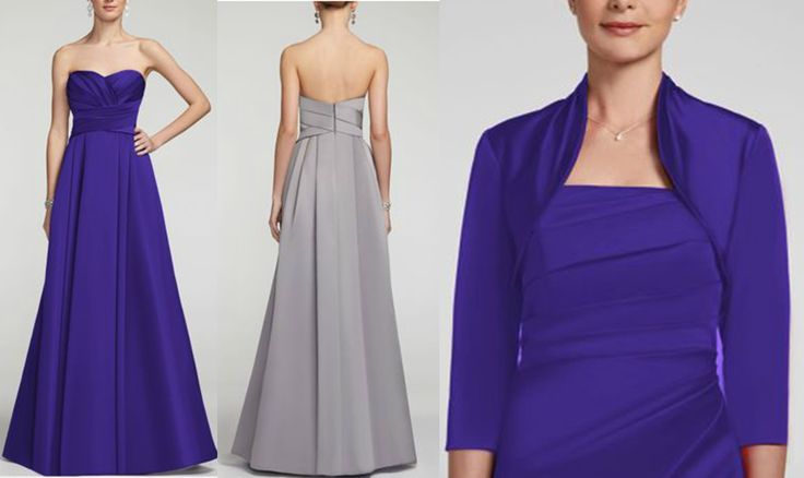 David S Bridal Wedding Gowns: David's Bridal Strapless Satin Pleated Bodice Ball Gown