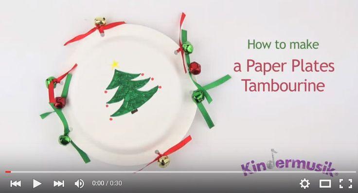 Kids' Holiday Activity: DIY Tambourine | Kindermusik® International https://youtu.be/qkGhRuNSG3s?list=PL63D85DB34934C068