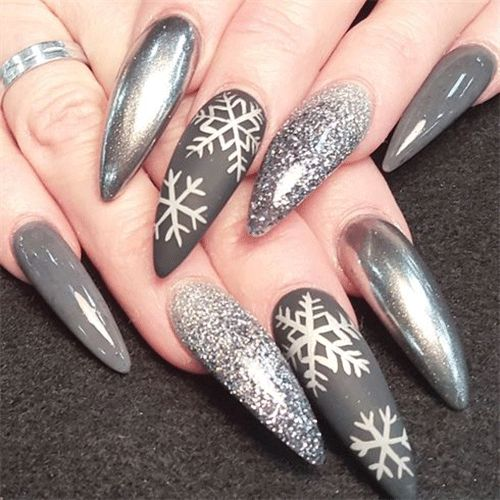 Best 25 nail art galleries ideas on pinterest nail art winter snowflake nail art prinsesfo Images