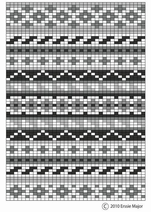 fair isle pattern - beautiful as an embroidery pattern too.