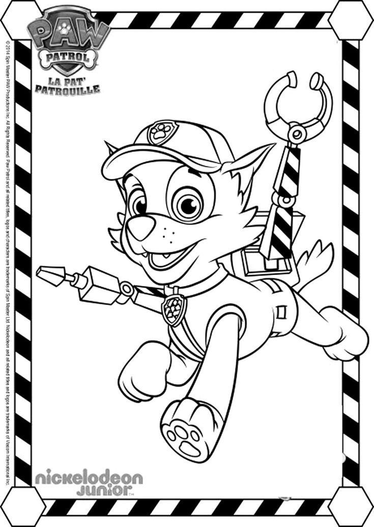 Pour imprimer ce coloriage gratuit «coloriage-pat-patrouille-rocky-3», cliquez sur l'icône Imprimante situé juste à droite