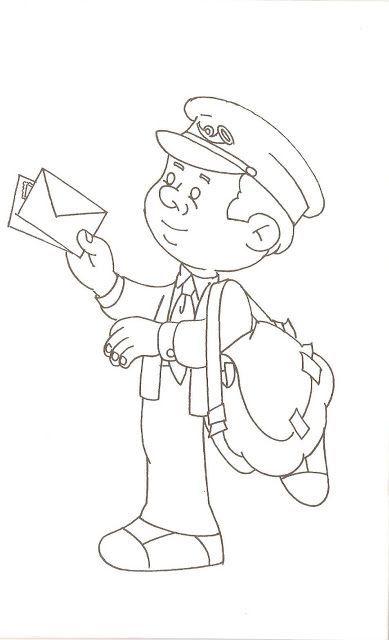 Omalovánka - poštovní doručovatel