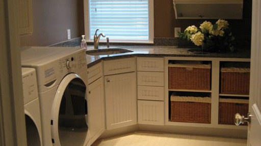 Laundry Room Corner Sink Counter Cupboards For The