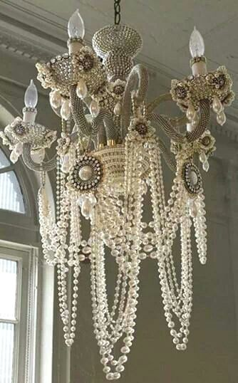 Shabby chic pearl chandelier ♡