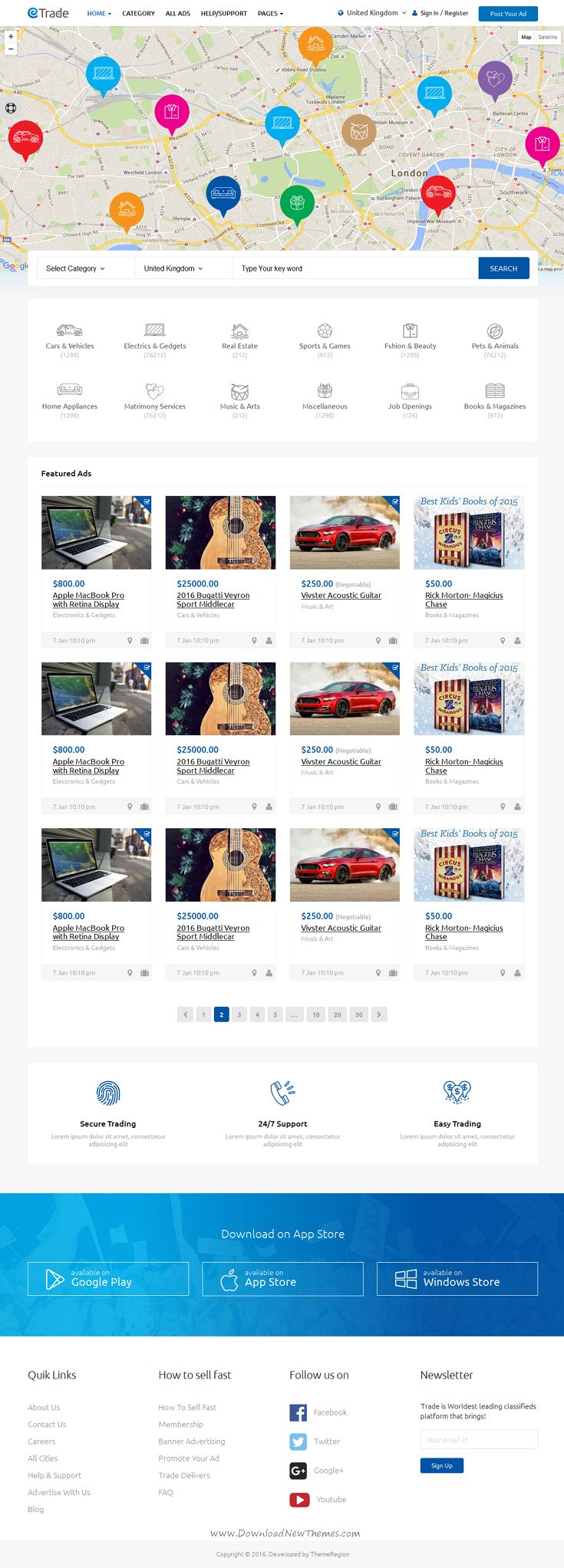 Trade modern classified ads html template modern and web design inspiration