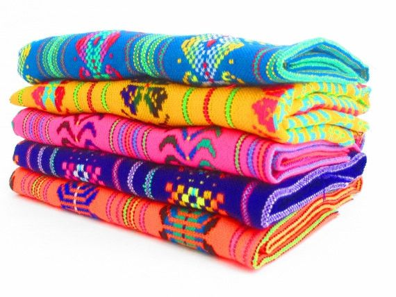 Mexican Fabric Bundle, tribal fabric by the half yard, Aztec Fabric Set