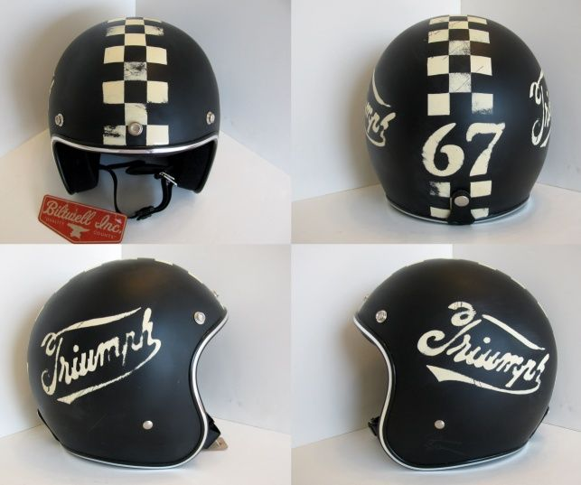 Triumph Distressed Helmets by Old School Helmets