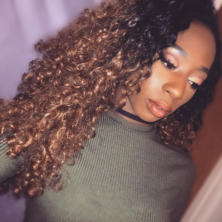Curls on Fleek || @teechantel__ || @outre_hair Quick Weave Penny