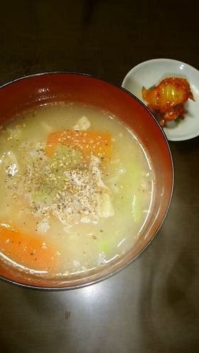 寒い冬に@韓国料理鶏タッコムタンクッパ