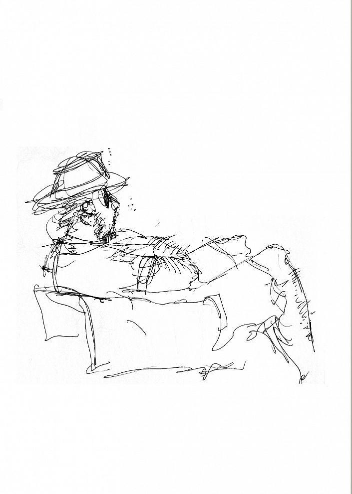 Stefanie Pietsch: Mann am Meer (1/15). Fine art Print auf Papier nach Originalzeichnung (Fineliner) #Urlaub #Scribble #Strand #Meer #Fineliner #skribble #Zeichnung #Edition #blacknwhite #schwarzweiß #stefaniepietsch #startyourart www.startyourart.de