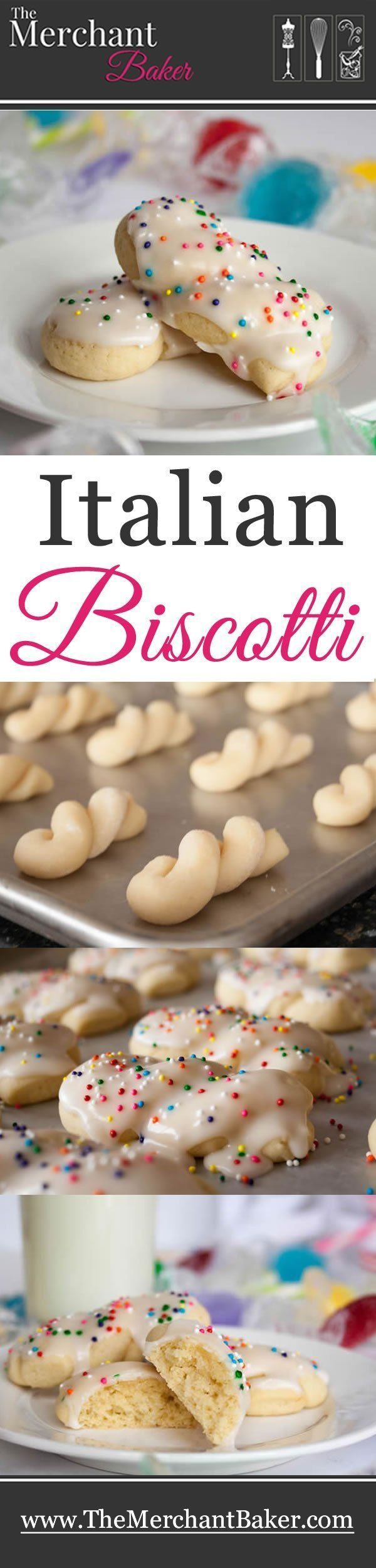 Italian Biscotti. The very best recipe for this traditionally soft and tender iced vanilla cookie.