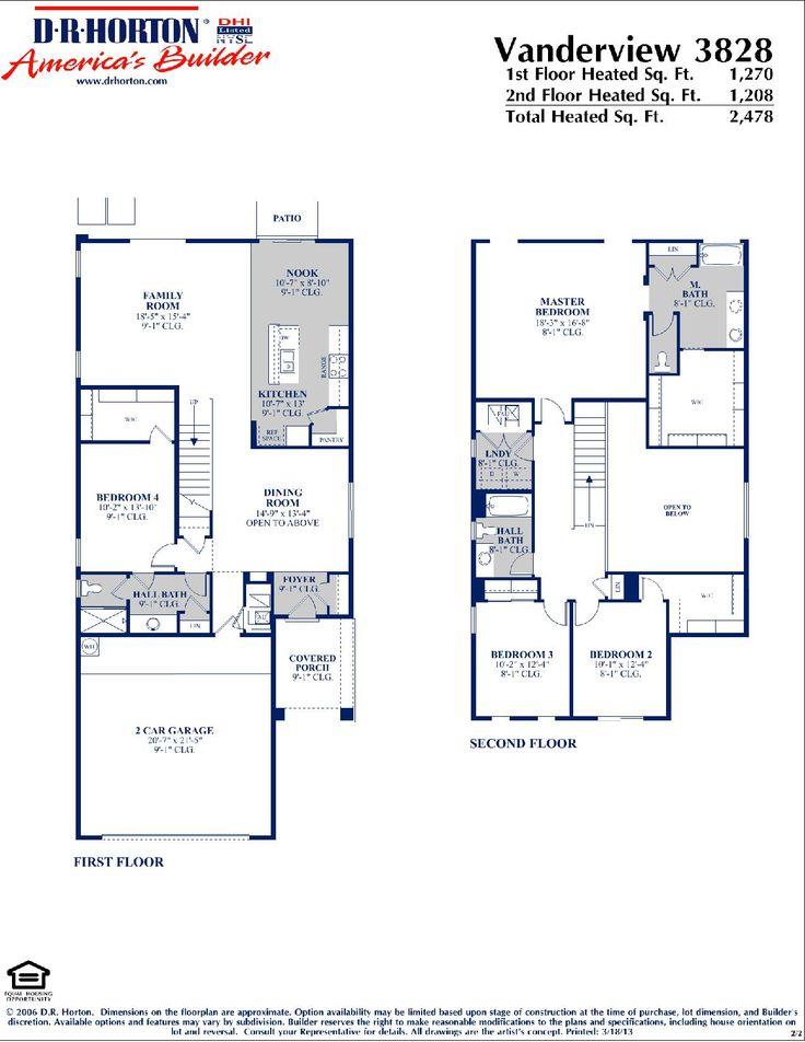 Dr Horton Vanderview Floor Plan Via Www Nmhometeam Com