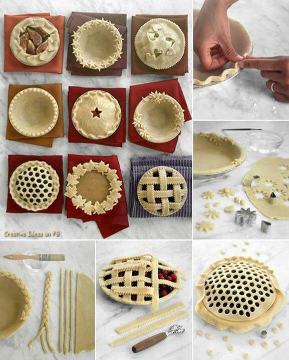Pie crust designs. Definitely trying some of these out for the holidays!