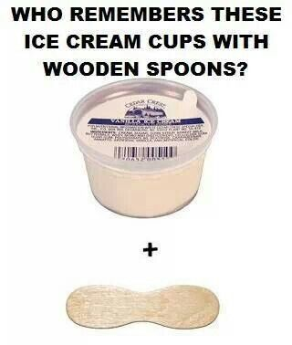 Ice cream in the 1950s and 1960s. I remember these.