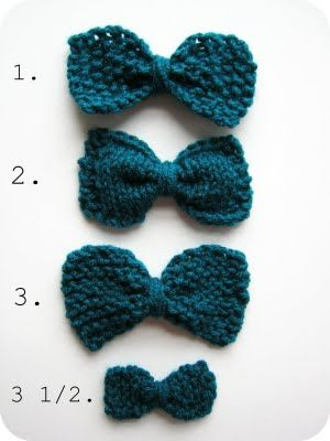 Easy knit bows