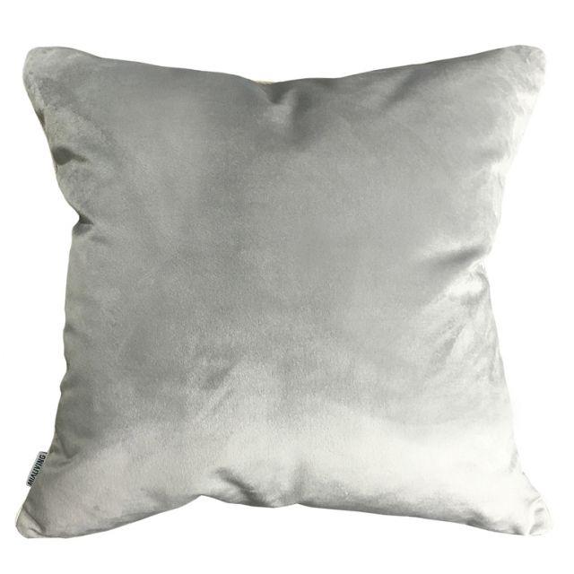 Velvet Glamour Light Silver Pillow #pillows #throwpillow #interiors #homedecor #cushions #mialiving