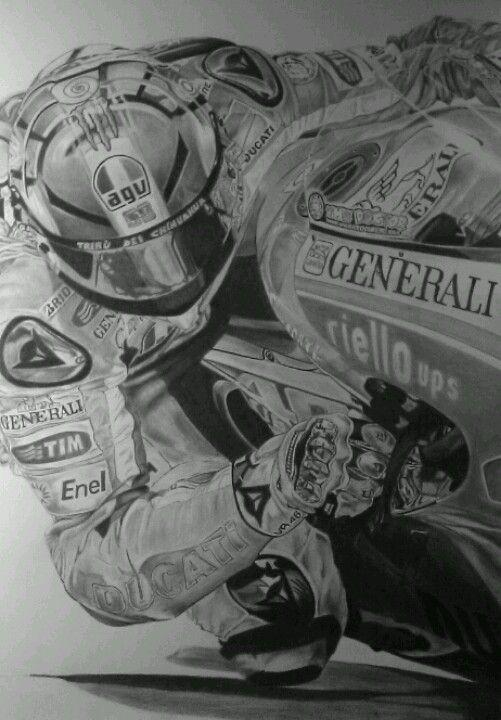 Valentino Rossi su Ducati MotoGP