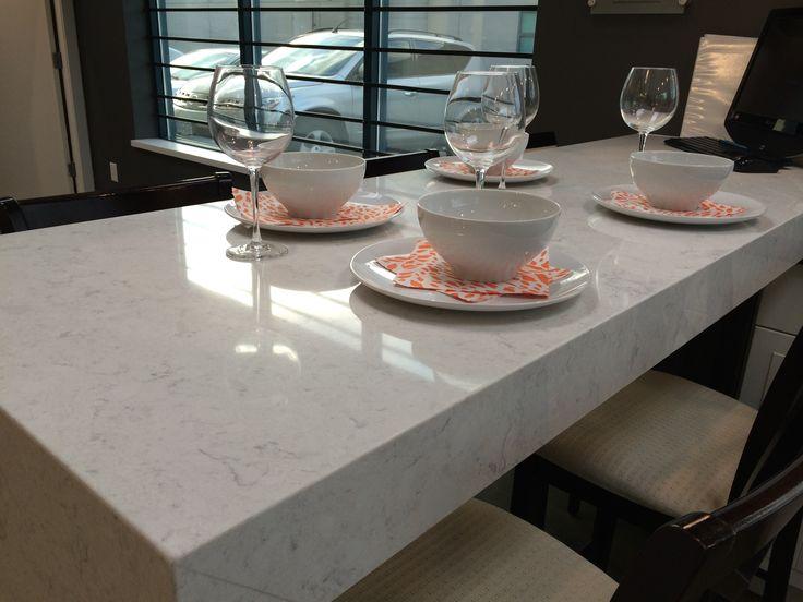 Viatera Quartz- kitchen island Cirrus   LG Viatera Quartz