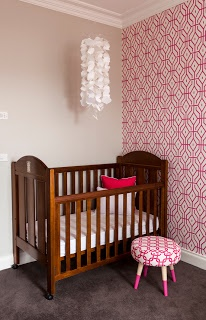 Anna Spiro range for Porters Paints, Rosey Posey Trellis in Pink Ginger