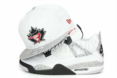 """KIX & LIDZ: Toronto Blue Jays Glacial White Cement Speckled Jordan IV V """"White Cement OG"""" Matching New Era Snapback...The Air Jordan V """"White Cement"""" pays homage to the original Air Jordan IV """"White Cement OG"""". This reiteration makes home on the Jordan V and the results are stunning. This Toronto Blue Jays New Era Snapback is featured in a glacial white and speckled cement print placid gray visor with jet black under. The front boasts the throwback Blue Jays logo with the wordmark on the…"""