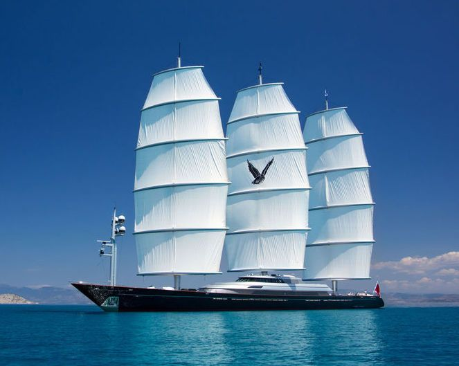 The 88m Maltese Falcon Second Biggest Sailing Yacht In The World This Superyacht Has An Incredible Design And The Comfort Of A Motor Yacht You Can See Th Vague