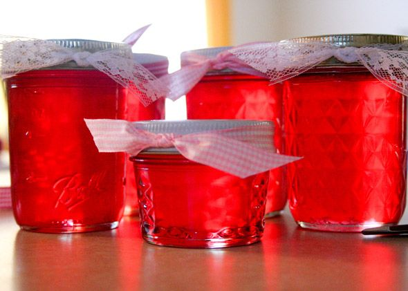 Cinnamon Red Hot Jelly - I have made this and it is so good on a cracker with cream cheese! This blog explains it step by step. ~jm