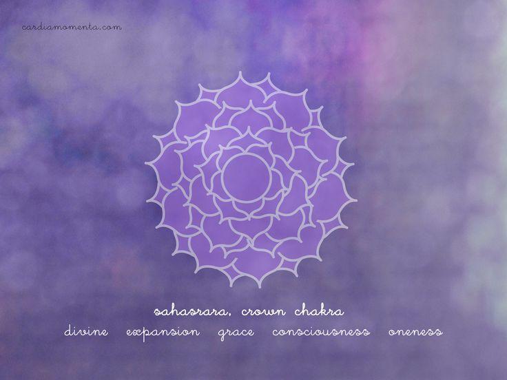 Sahasrara, crown chakra greeting card