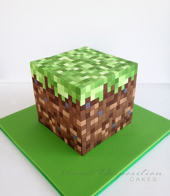 Top 30 Video Game Cakes ~ Quirky Cookery would love to make a mine craft cake for Bray!
