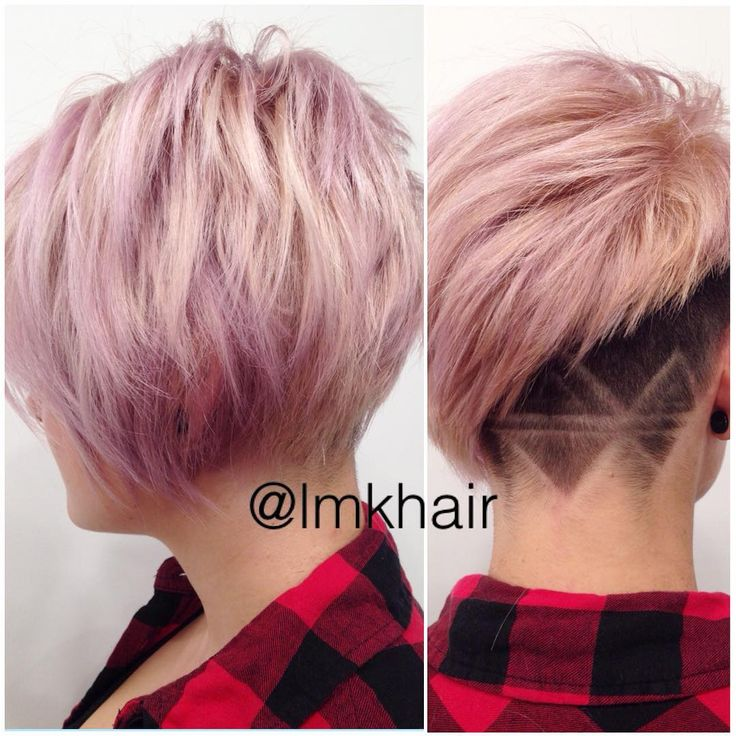 Edgy undercut and design lines Shaved UndercutUndercut