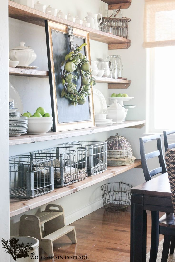17 best ideas about dining room shelves on pinterest for Kitchen room decoration