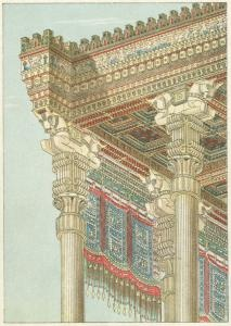 Hypostyle of hall of Xerxes : detail of entablature. (ca. 1901)