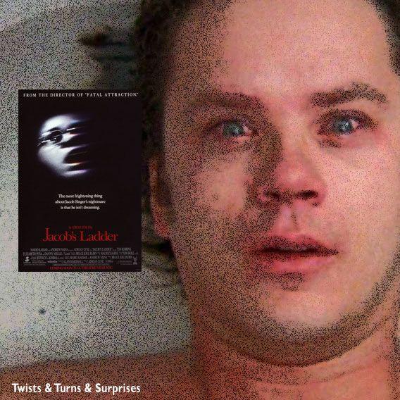 """See. According to this, you're already dead."" Jacob's Ladder (1990) Director: Adrian Lyne. Stars: Tim Robbins, Elizabeth Peña, Danny Aiello, Matt Craven, Pruitt Taylor Vince, Jason Alexander, Patricia Kalember, Eriq La Salle, Ving Rhames."