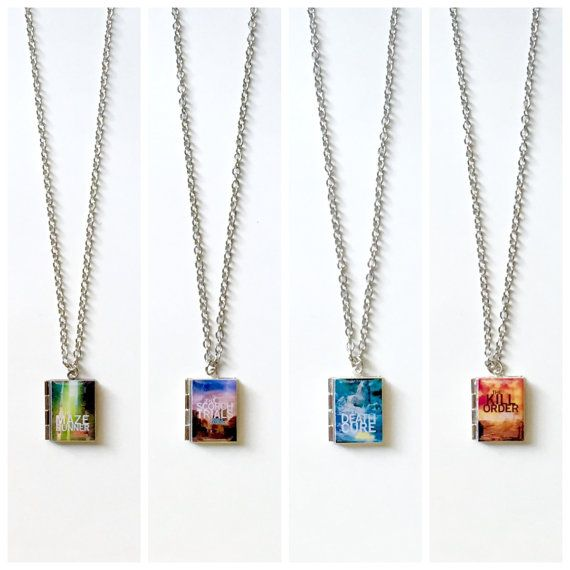 The Maze Runner/Scorch Trials/Death Cure/Kill Order Book Necklace/Literary Necklace/Book Locket Necklace/Bookmark/Keychain/Bracelet