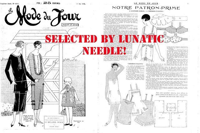 Lunatic Needle: Da La Mode Du Jour N° 211 anno 1925: Chemise-Culotte copricostume