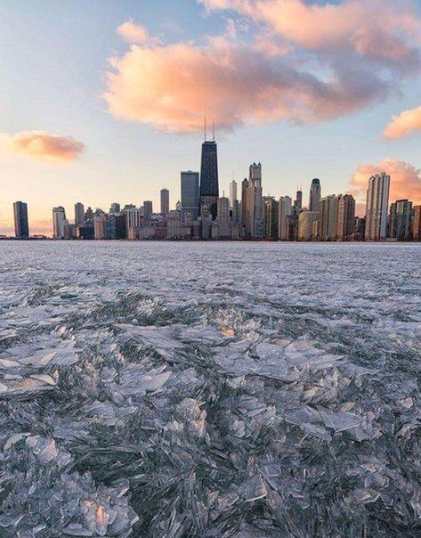 Замерзшее озеро Мичиган, Чикаго