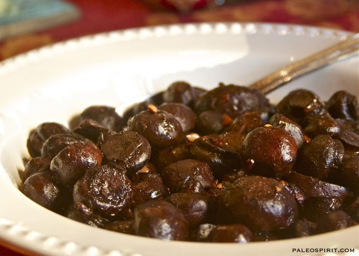 Burgundy Mushrooms with ghee and red wine will make your house smell amazing.