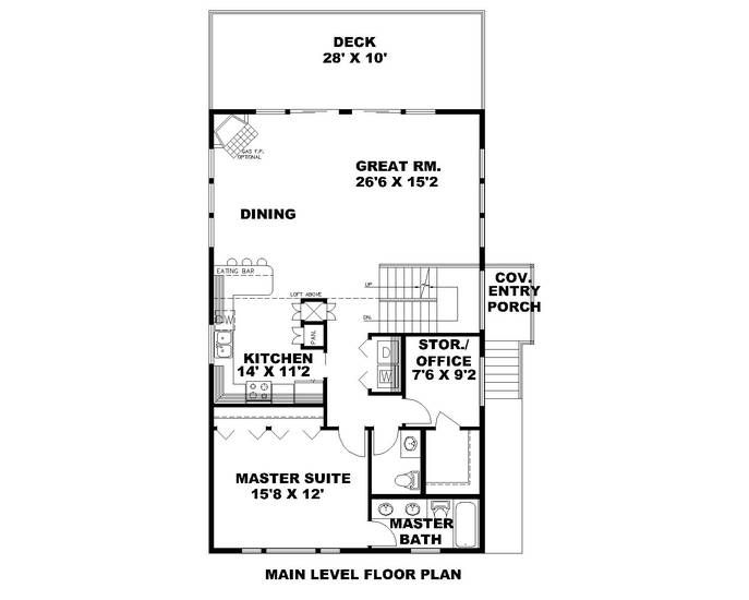 Hpm Home Plans Home Plan 001 3221 House Plans Narrow Lot House Plans Home Office Design